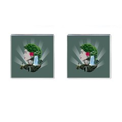 Digital Nature Beauty Cufflinks (square)