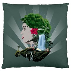 Digital Nature Beauty Large Cushion Case (two Sides)