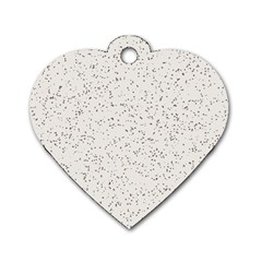 Pattern Star Pattern Star Dog Tag Heart (two Sides)
