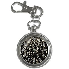Christmas Bokeh Lights Background Key Chain Watches