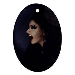 Vampire Woman Vampire Lady Ornament (oval)