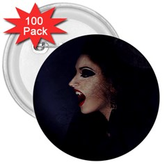 Vampire Woman Vampire Lady 3  Buttons (100 Pack)