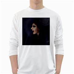 Vampire Woman Vampire Lady White Long Sleeve T Shirts