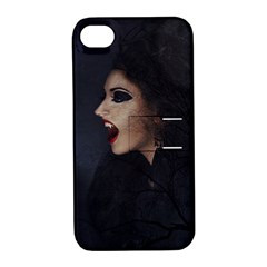 Vampire Woman Vampire Lady Apple Iphone 4/4s Hardshell Case With Stand