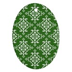 St Patrick S Day Damask Vintage Oval Ornament (Two Sides) Front