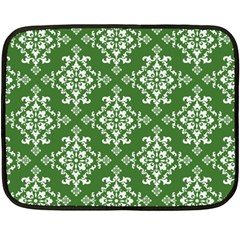 St Patrick S Day Damask Vintage Double Sided Fleece Blanket (mini)