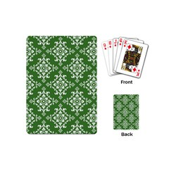 St Patrick S Day Damask Vintage Playing Cards (mini)