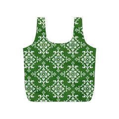 St Patrick S Day Damask Vintage Full Print Recycle Bags (s)
