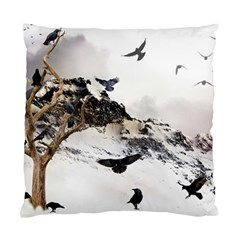 Birds Crows Black Ravens Wing Standard Cushion Case (one Side)