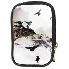 Birds Crows Black Ravens Wing Compact Camera Cases