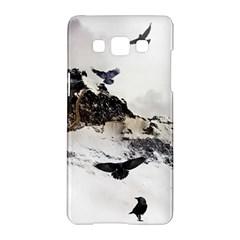 Birds Crows Black Ravens Wing Samsung Galaxy A5 Hardshell Case