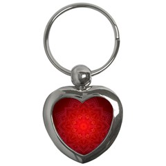 Mandala Ornament Floral Pattern Key Chains (heart)