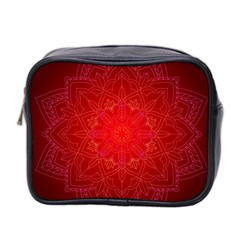 Mandala Ornament Floral Pattern Mini Toiletries Bag 2 Side