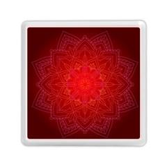Mandala Ornament Floral Pattern Memory Card Reader (square)
