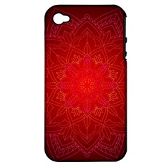 Mandala Ornament Floral Pattern Apple Iphone 4/4s Hardshell Case (pc+silicone)