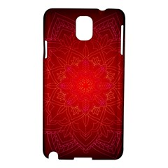 Mandala Ornament Floral Pattern Samsung Galaxy Note 3 N9005 Hardshell Case