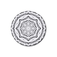 Mandala Pattern Floral Rubber Coaster (round)