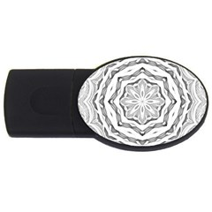 Mandala Pattern Floral Usb Flash Drive Oval (2 Gb)