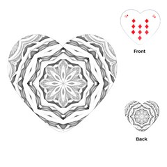 Mandala Pattern Floral Playing Cards (heart)