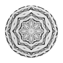 Mandala Pattern Floral Round Ornament (two Sides)