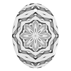 Mandala Pattern Floral Oval Ornament (two Sides)