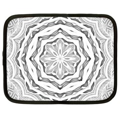 Mandala Pattern Floral Netbook Case (large)