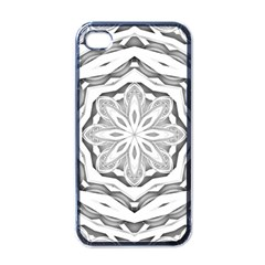 Mandala Pattern Floral Apple Iphone 4 Case (black)
