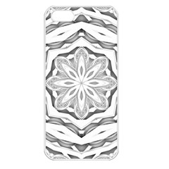 Mandala Pattern Floral Apple Iphone 5 Seamless Case (white)