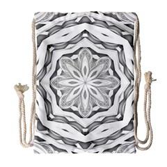 Mandala Pattern Floral Drawstring Bag (large)
