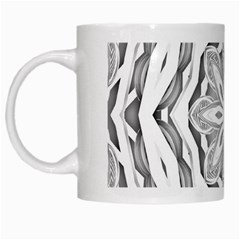 Mandala Pattern Floral White Mugs