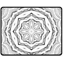 Mandala Pattern Floral Fleece Blanket (medium)
