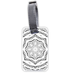 Mandala Pattern Floral Luggage Tags (two Sides)