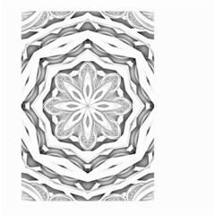 Mandala Pattern Floral Large Garden Flag (two Sides)