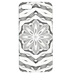 Mandala Pattern Floral Apple Iphone 5 Hardshell Case With Stand