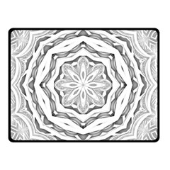 Mandala Pattern Floral Double Sided Fleece Blanket (small)