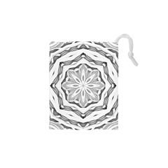 Mandala Pattern Floral Drawstring Pouches (xs)