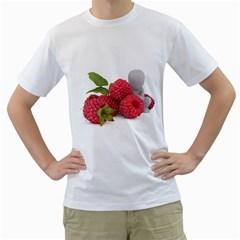 Fruit Healthy Vitamin Vegan Men s T Shirt (white) (two Sided)