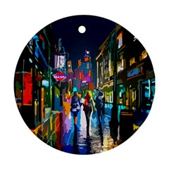 Abstract Vibrant Colour Cityscape Ornament (round)