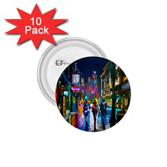 Abstract Vibrant Colour Cityscape 1 75  Buttons (10 Pack)