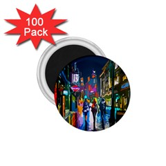 Abstract Vibrant Colour Cityscape 1 75  Magnets (100 Pack)