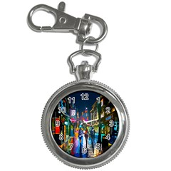 Abstract Vibrant Colour Cityscape Key Chain Watches
