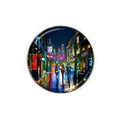 Abstract Vibrant Colour Cityscape Hat Clip Ball Marker (4 Pack)