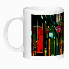 Abstract Vibrant Colour Cityscape Night Luminous Mugs
