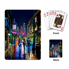 Abstract Vibrant Colour Cityscape Playing Card