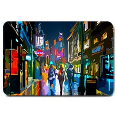 Abstract Vibrant Colour Cityscape Large Doormat