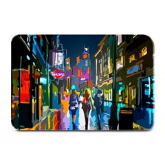 Abstract Vibrant Colour Cityscape Plate Mats