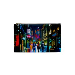 Abstract Vibrant Colour Cityscape Cosmetic Bag (small)