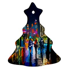 Abstract Vibrant Colour Cityscape Christmas Tree Ornament (two Sides)