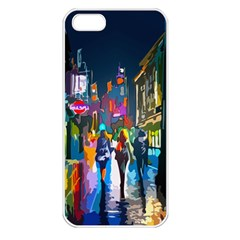 Abstract Vibrant Colour Cityscape Apple Iphone 5 Seamless Case (white)