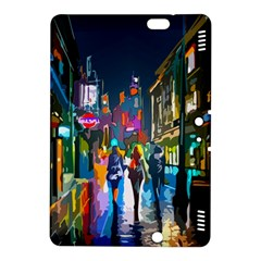 Abstract Vibrant Colour Cityscape Kindle Fire Hdx 8 9  Hardshell Case
